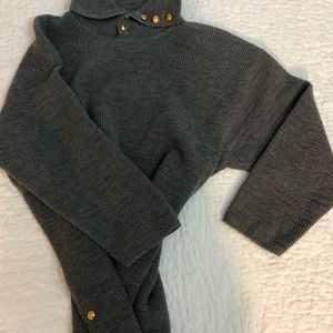 Escada sweater with gold button detail